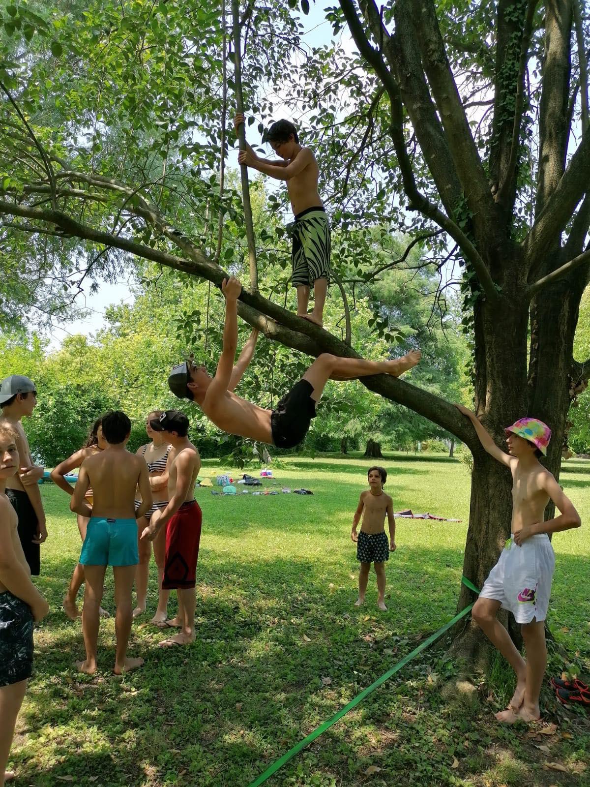Tree Climb today @ VisitValdadige Camp per Super Giovani! Le attivita prosegu...