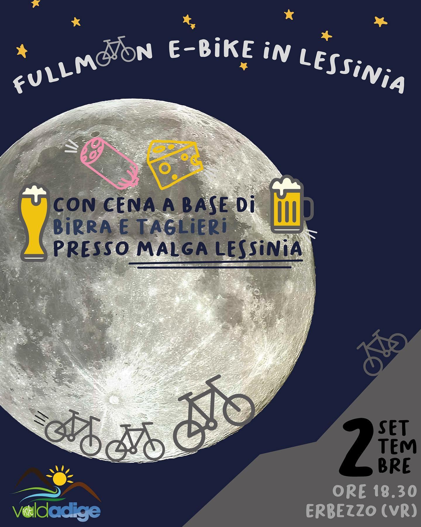 Mercoledì 2 settembre Luna Piena! Una gita notturna illuminati dalla luce della...