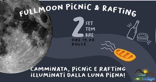 Rafting e PicNic con la luna piena