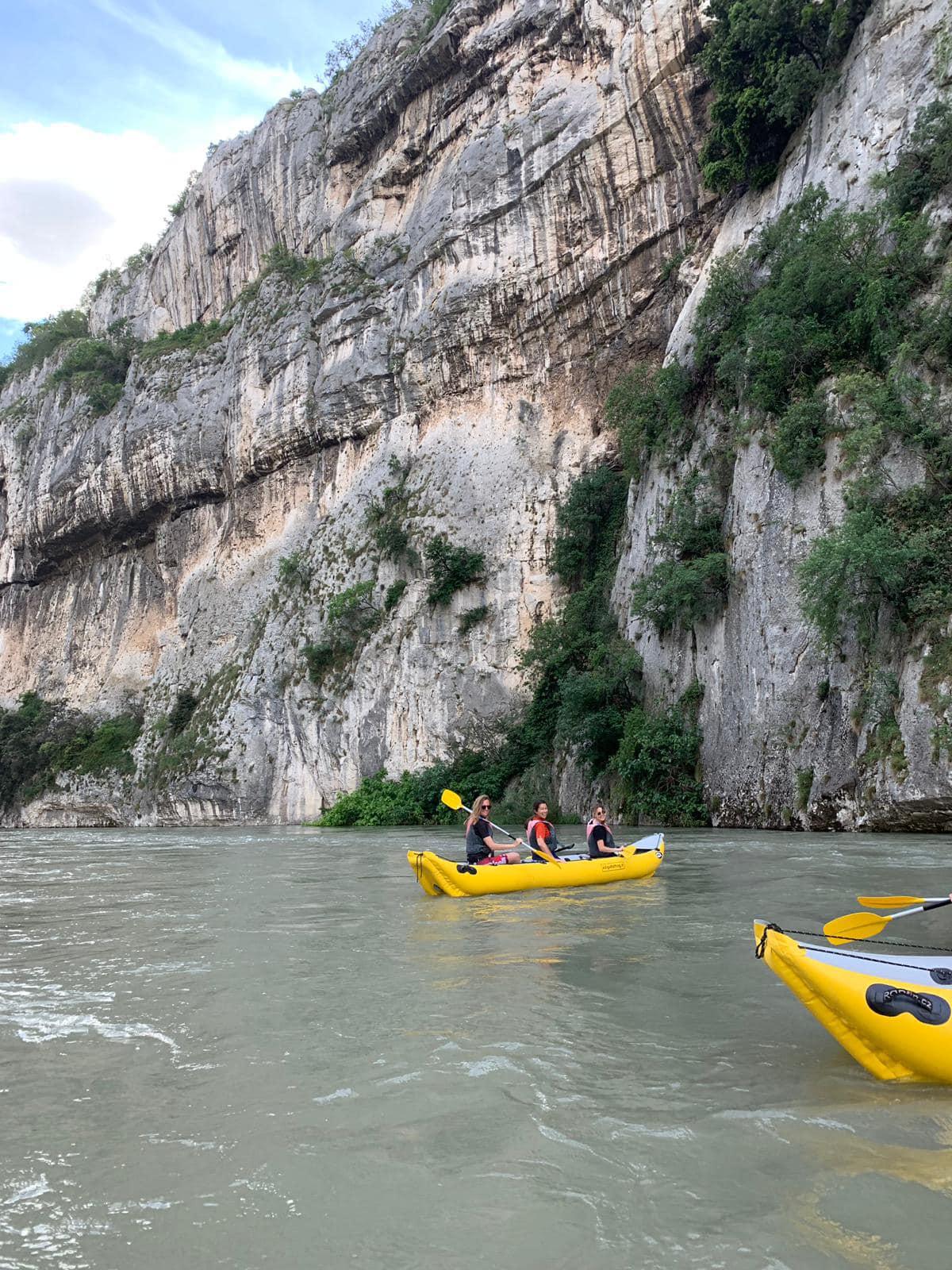 Kayak nel Canyon di Ceraino.