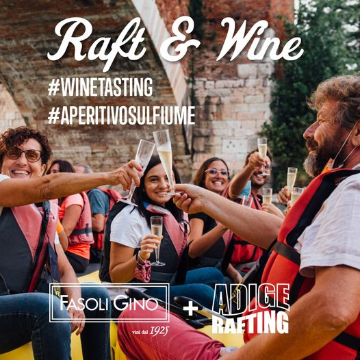 Good wine + friends + river descent = RAFT & WINE Thanks to the collaboration ...