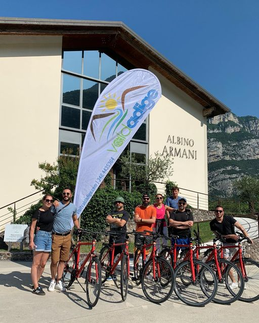 Today a bike ride among the precious vineyards of the Albino Armani winery and the wonders ...
